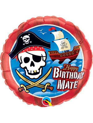 Globo foil Birthday Mate Pirate Ship