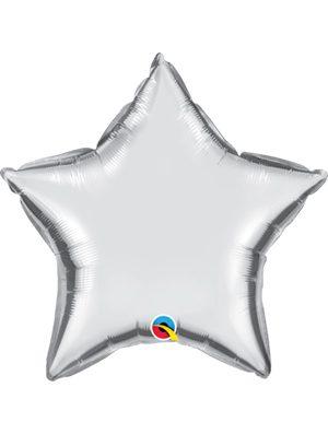 Globo foil estrella Silver