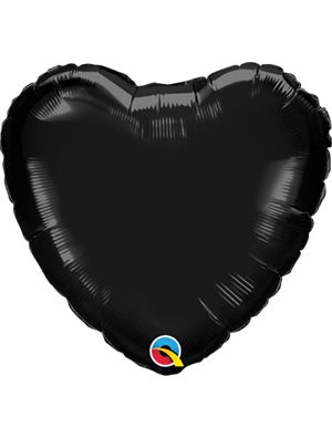 Globo foil corazón Onyx Black