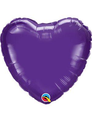 Globo foil corazón Quartz Purple