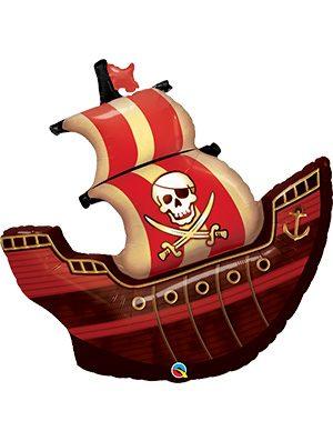 Globo Foil barco Pirata Ship