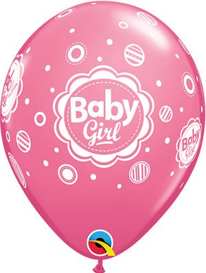 Globo látex Baby Girl Dots 6