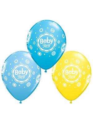 Globo látex Baby Boy Dots surtido