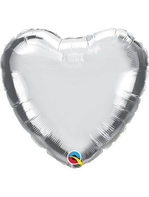 Globo foil corazón Silver