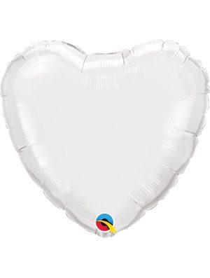 Globo foil corazón White