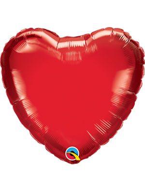 Globo foil corazón Ruby Red