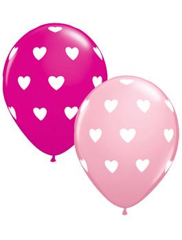 Globo látex corazones Big Hearts Pink & Wild Berry