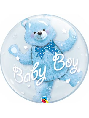 Globo Double Bubble Baby Blue Bear