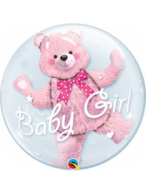 Globo Double Bubble Baby Girl Bear