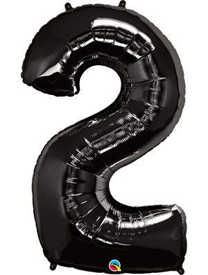 Globo forma numero dos negro