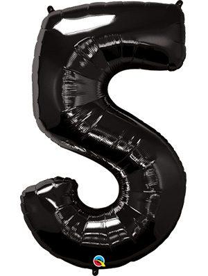 Globo forma numero cinco negro