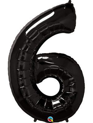 Globo forma numero seis Negro