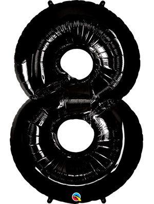Globo forma numero ocho Negro