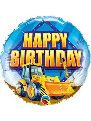 Globo foil Birthday Construction Zone