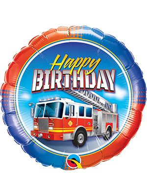 Globo foil Birthday Fire Truck
