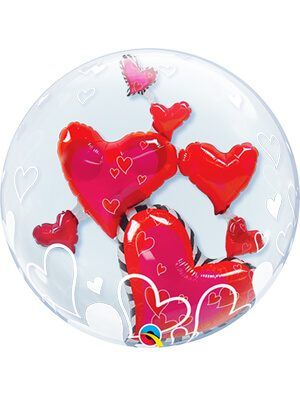 Globo Double Bubble Lovely Floating Hearts
