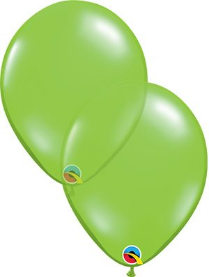 Globo látex Jewel Lime transparente
