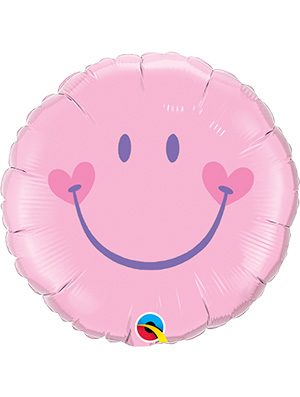 Globo foil Sweet Smile Face Pink