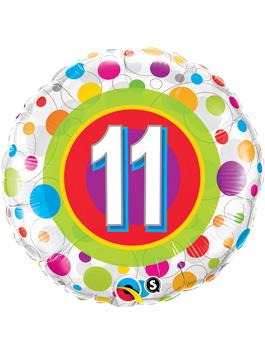 Globo foil Age 11 Colourful Dots