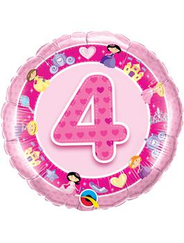 Globo foil Age 4 Pink Princess