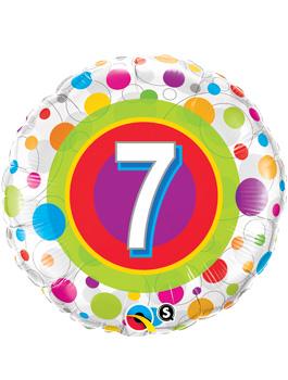 Globo foil Age 7 Colourful Dots
