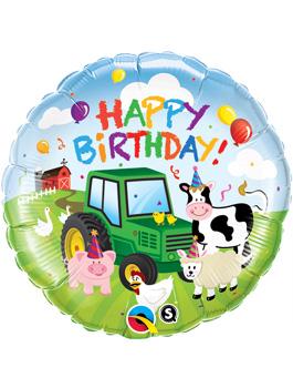 Globo foil Birthday Barnyard