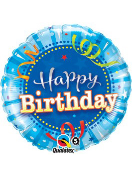 "Globo foil Birthday Bright Blue 18"""