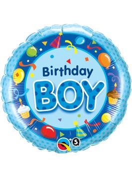 Globo foil Birthday Boy Blue