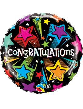 Globo foil Congratulation Shooting Stars