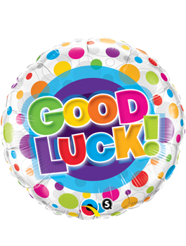 Globo foil Good Luck Colourful Dots
