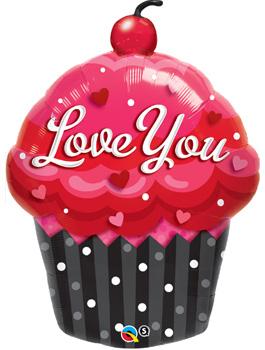 """Globo foil Love You Cupcake 35"""""""