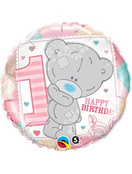 Globo foil Tiny Tatty 1st Birthday Girl