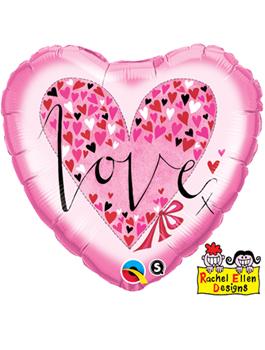 Globo foil Love Little Hearts