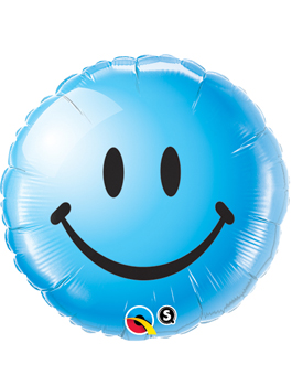 Globo foil Smiley Face Blue