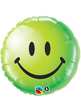 Globo foil Smiley Face Green Verde