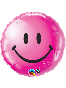 Globo foil Smiley Face Wild Berry
