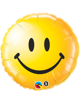 Globo foil Smiley Face Yellow