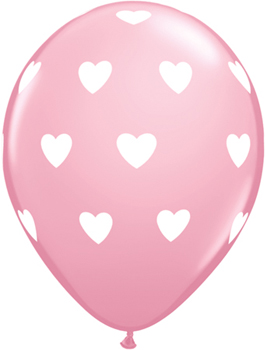 Globo látex corazones Big Hearts Pink pack