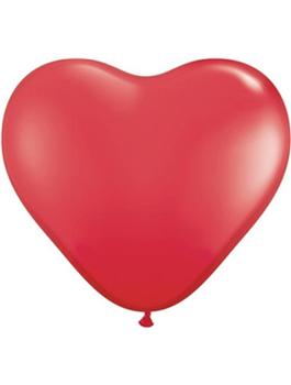 Globo látex corazón Rojo