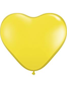 Globo látex corazón Amarillo