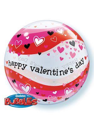 Globo Bubble Valentine's Colorful Waves