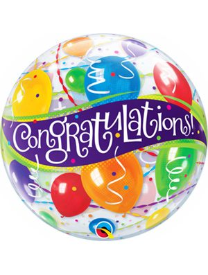 Globo Bubble Congratulations Balloons