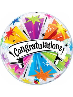 Globo Bubble Congratulations Banner Blast