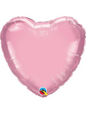 Globo foil corazón Pearl Pink