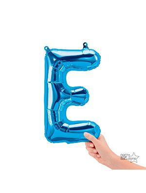 Globo foil letra D pequeña color Azul