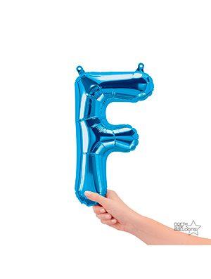 Globo foil letra F pequeña color Azul