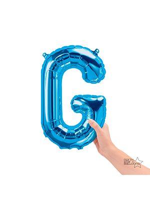 Globo foil letra G pequeña color Azul