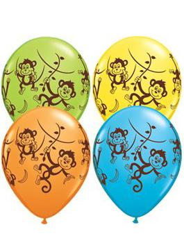 Globo látex Mischievous Monkeys surtido