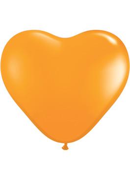 Globo látex corazón Naranja