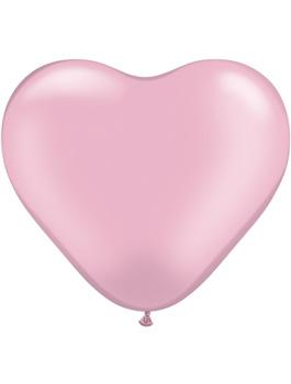 Globo látex corazón perla Pink